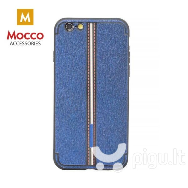 Apsauginis dėklas Mocco Trendy Grid And Stripes Silicone Back Case Apple iPhone 7 Plus / 8 Plus Blue (Pattern 3)