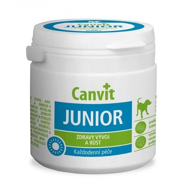 Canvit Junior vitaminai šunims, N 100, 100 g kaina ir informacija | Vitaminai, papildai, antiparazitinės priemonės šunims | pigu.lt