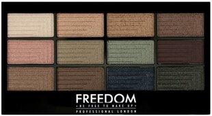 Akių šešėlių paletė Freedom Pro Eyeshadow 12 g, 12 Romance And Jewels kaina ir informacija | Akių šešėliai, pieštukai, blakstienų tušai, serumai | pigu.lt