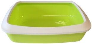 Atviras plastikinis kačių tualetas su rėmu Savic, žalias kaina ir informacija | Kačių tualetai | pigu.lt