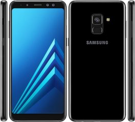 Samsung Galaxy A8 (2018) A530, Single SIM, Juoda