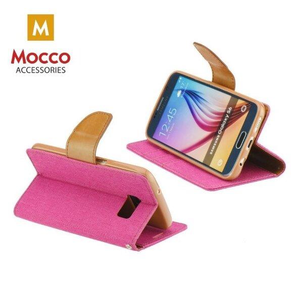 Atverčiamas dėklas Mocco Canvas, skirtas Nokia 6.1 / Nokia 6 (2018) telefonui, rožinis atsiliepimas