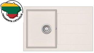 Dirbtinio granito virtuvinė plautuvė Aquasanita Tesa SQT101, 111 Silica kaina ir informacija | Virtuvinės plautuvės | pigu.lt