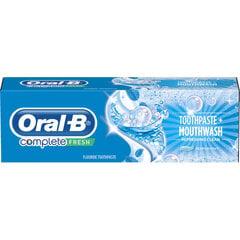 Dantų pasta Oral-B Complete Mouthwash & Whitening 75 ml kaina ir informacija | Dantų pasta Oral-B Complete Mouthwash & Whitening 75 ml | pigu.lt