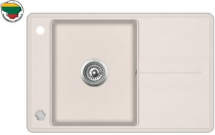 Dirbtinio granito virtuvinė plautuvė Aquasanita Bella SQB101, 111 Silica