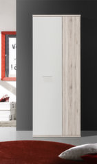 Spinta Net106 MS157, baltos/ąžuolo spalvos kaina ir informacija | Prieškambario spintos | pigu.lt