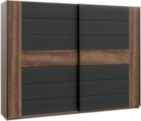 Spinta Dolce DLCS227E1, ruda/juoda kaina ir informacija | Spintos | pigu.lt