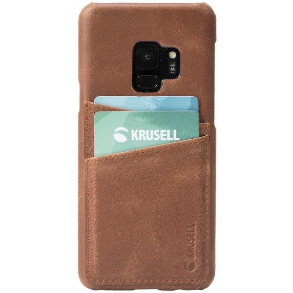 Krusell Sunne 2 Card Cover, skirtas Samsung Galaxy S9, rudas отзыв