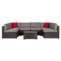 Lauko baldų komplektas Cliff, rudas/pilkas kaina ir informacija | Lauko baldų komplektai | pigu.lt