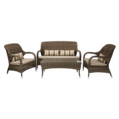 Lauko baldų komplektas Loreto, rudas kaina ir informacija | Lauko baldų komplektai | pigu.lt