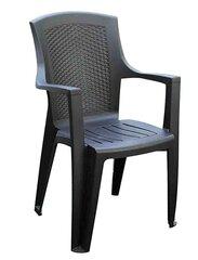 Kėdė King, pilka kaina ir informacija | Lauko kėdės, foteliai, pufai | pigu.lt
