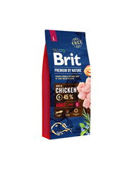 BRIT Premium By Nature Adult Large L 15 kg kaina ir informacija | BRIT Premium By Nature Adult Large L 15 kg | pigu.lt