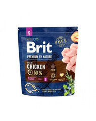 BRIT Premium By Nature Adult Small S, 1 kg kaina ir informacija | BRIT Premium By Nature Adult Small S, 1 kg | pigu.lt