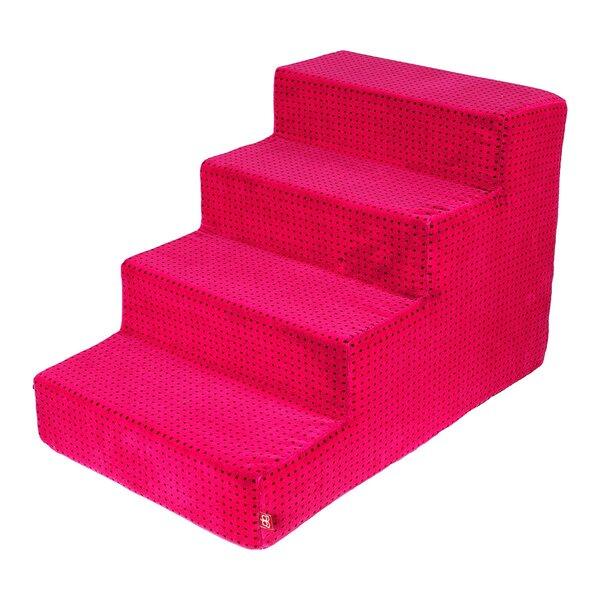 Amibelle dideli laiptai šuniui, rožinės spalvos 60 x 40 x 40 cm kaina ir informacija | Guoliai, pagalvėlės | pigu.lt