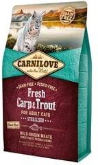 Carni Love Fresh Carp &Trout Sterilised suaugusioms katėms 6 kg kaina ir informacija | Sausas maistas katėms | pigu.lt