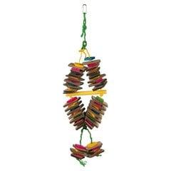 Trixie paukščių žaislas medinis/popierinis, 18x35 cm kaina ir informacija | Narvai, jų priedai graužikams | pigu.lt