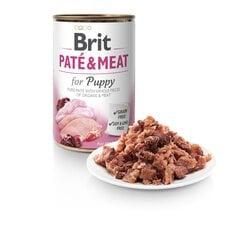 BRIT CARE konservai šuniukams Pate&meat su vištiena ir kalakutiena, 400g kaina ir informacija | BRIT CARE konservai šuniukams Pate&meat su vištiena ir kalakutiena, 400g | pigu.lt