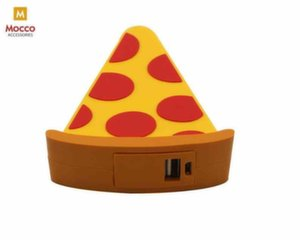 Mocco Emoji Pizza Power Bank 2600mAh Universal Charger for devices 5V 1 A + Micro USB Cable White