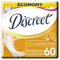 Hig.įkl.DISCREET Summer Fr.60vnt kaina ir informacija | Įklotai, tamponai, intymios higienos prausikliai | pigu.lt
