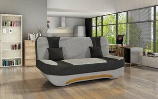 Sofa Ewa II, pilka/juoda kaina ir informacija | Sofos, foteliai ir minkšti kampai | pigu.lt