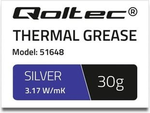 Qoltec Thermal grease 3.17 W / m-K | 30g | Silver (51648)