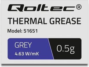 Qoltec Thermal grease 4.63W / m-K | 0.5g Gray (51651)