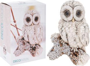 Dekoracija Pelėda ant šakos kaina ir informacija | Kalėdinės dekoracijos | pigu.lt