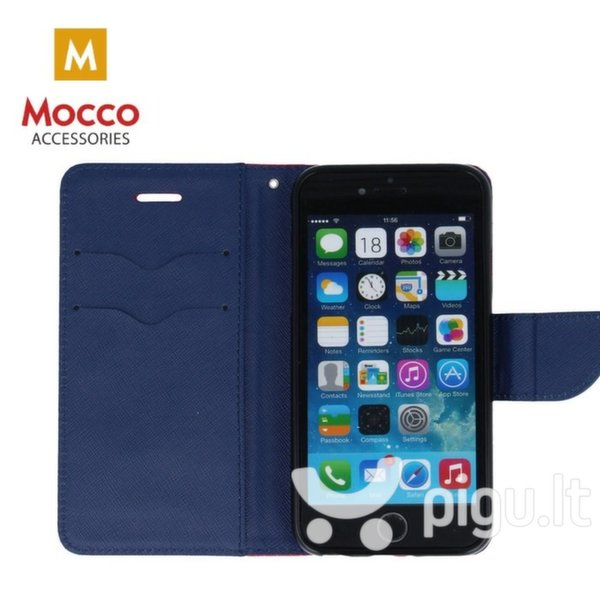 Mocco Fancy Book Case For Nokia 6.1 / Nokia 6 (2018) Sarkans - Blue pigiau