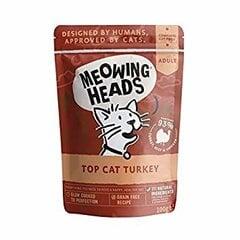 Meowing Heads su paukštiena Wet Top Cat Turkey 100 g kaina ir informacija | Konservai katėms | pigu.lt