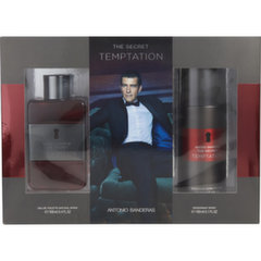 Rinkinys Antonio Banderas The Secret Temptation vyrams: EDT 100 ml + purškiamas dezodorantas 150 ml