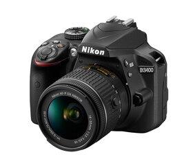 Nikon D3400 AF-P DX NIKKOR 18-55mm F/3.5-5.6G VR kaina ir informacija | Skaitmeniniai fotoaparatai | pigu.lt