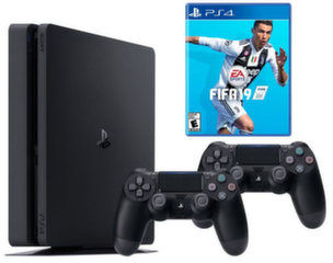 Sony PlayStation 4 (PS4) Slim 500 GB + FIFA 19 + 2 valdymo pulteliai