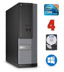 Dell 3020 SFF i3-4130 4GB 2TB DVDRW WIN10Pro kaina ir informacija | Stacionarūs kompiuteriai | pigu.lt