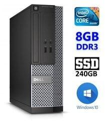 Dell 3020 SFF i3-4130 8GB 240SSD DVDRW WIN10Pro kaina ir informacija | Stacionarūs kompiuteriai | pigu.lt