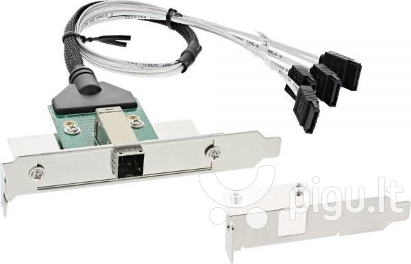 InLine SAS HD Bracket with Cable ext. SFF-8644 to int. 4x SATA 0.5m (27659B)