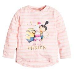 Cool Club marškinėliai ilgomis rankovėmis mergaitėms Pakalikai (Minions), LCG1713418