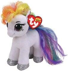 Pliušinis žaislas TY Beanie Boos STARR - baltas ponis, 15 cm, 36664