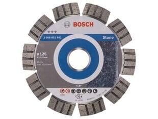 Deimantinis diskas Bosch Best for Stone 125x22x2,2mm kaina ir informacija | Mechaniniai įrankiai | pigu.lt
