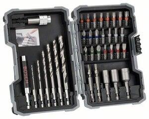 Grąžtų ir sukimo antgalių komplektas medienai Bosch Pro-Mix, 35 vnt. kaina ir informacija | Bosch Įrankiai | pigu.lt