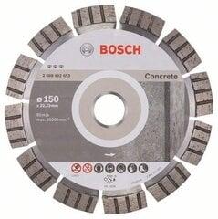 Deimantinis diskas Bosch Best for Concrete 150 x 22mm kaina ir informacija | Mechaniniai įrankiai | pigu.lt