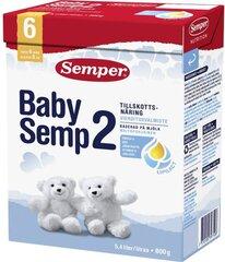 Смесь для последующего кормления молоком Semper BabySemp2, с 6 мес., 800 г цена и информация | Последующие детские смеси | pigu.lt
