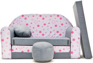 Išskleidžiama sofa Welox Maxx A40, pilka/rožinė kaina ir informacija | Vaiko kambario baldai | pigu.lt