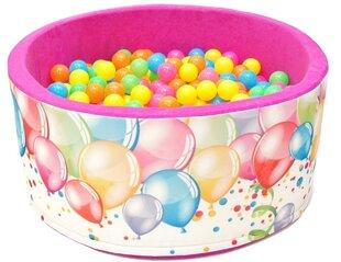 Baseinas su kamuoliukais Welox H2, rožinis kaina ir informacija | Žaislai kūdikiams | pigu.lt