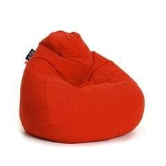 Sėdmaišis Qubo Comfort 90, gobelenas, raudonas kaina ir informacija | Sėdmaišiai ir pufai | pigu.lt