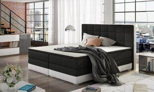 Lova Damaso, 180x200 cm, juoda/balta kaina ir informacija | Lovos | pigu.lt