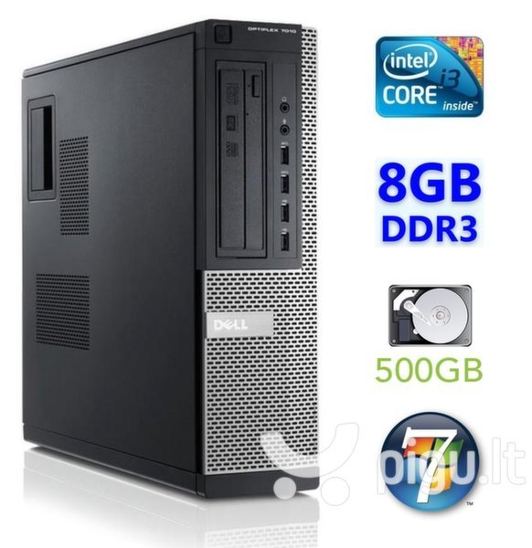 Dell 7010 DT i3-3220 8GB 500GB Windows 7 Pro