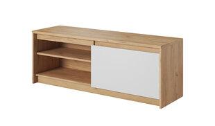 TV staliukas Xelo 1D, baltos/ąžuolo spalvos kaina ir informacija | TV staliukas Xelo 1D, baltos/ąžuolo spalvos | pigu.lt