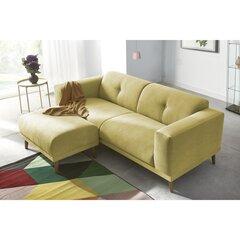 Sofa BoboChic Luna su pufu, geltona kaina ir informacija | Sofos, foteliai ir minkšti kampai | pigu.lt