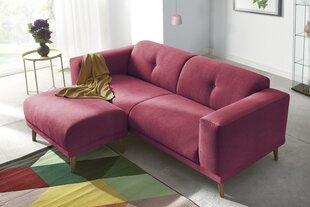 Sofa BoboChicLuna su pufu, raudona kaina ir informacija | Sofos, foteliai ir minkšti kampai | pigu.lt