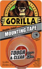 Dvipusė lipni juosta skaidri Gorilla 1.5m kaina ir informacija | Mechaniniai įrankiai | pigu.lt